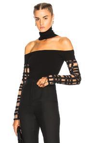 Esteban Cortazar Off Shoulder Kira Sweater In Black
