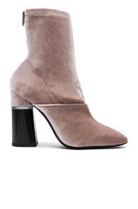 3.1 Phillip Lim Velvet Kyoto Boots In Neutrals,pink