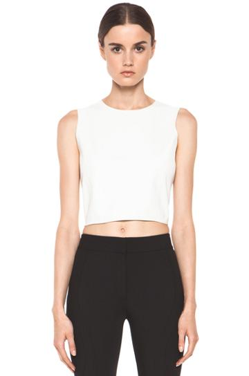 Theyskens' Theory Borty Nexcel Crop Top In White