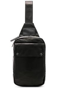 Yohji Yamamoto Leather Sling Bag In Black