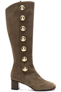 Chloe Suede Orlando Knee High Boots In Gray