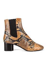 Isabel Marant Danae Boot In Animal Print,brown,neutral