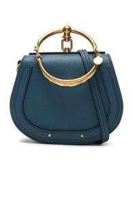Chloe Small Nile Bracelet Bag Calfskin & Suede In Blue