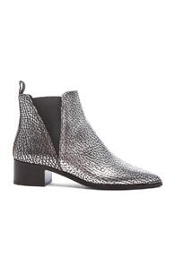 Acne Studios Metallic Leather Jensen Boots In Metallics