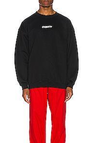 Vetements Inverted Logo Sweatshirt In Black