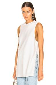 Ganni Sequins Top In White