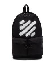 Off-white Diagonal Spray Backpack In Black