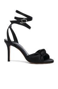 Isabel Marant Satin Abenya Heels In Black