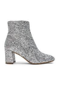 Mansur Gavriel Glitter Ankle Boot In Metallic