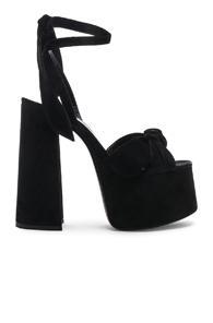 Saint Laurent Platform Sandals In Black