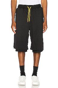 Pyer Moss Side Wave Double Layered Shorts