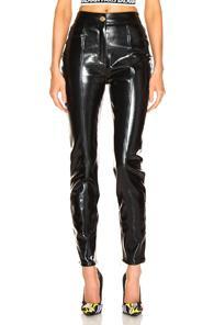 Balmain Patent Leather Pants In Black