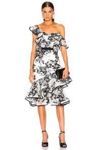 Atoir Unforgettable Minds Dress In Black,floral,white