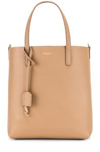 Saint Laurent Toy North South Tote Bag In Neutral