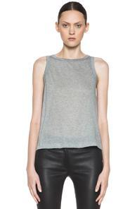 A.l.c. Muscle Jersey Tee In Gray