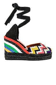 Castaner X Missoni Carina Wedge Espadrille In Black,abstract