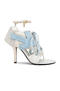 Off-white Heeled Runner In Blue,white