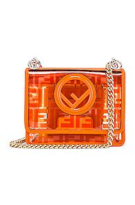 Fendi Kan I Small Logo Crossbody Bag In Orange