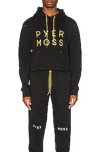 Pyer Moss Classic Logo Hooded Sweatshirt In Black