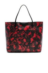 Givenchy Large Floral Printed Antigona Shopping Bag In Red,floral