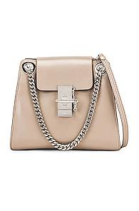 Chloe Small Leather Annie Bag In Gray