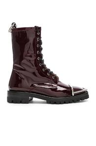 Alexander Wang Kennah Patent Boot In Red
