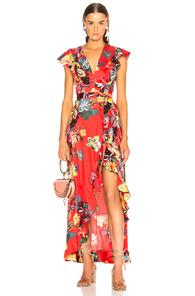 Alexis Janna Dress In Floral,red
