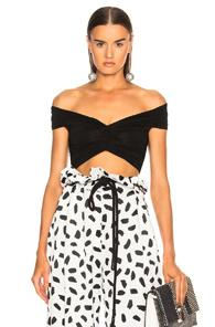 Off-white Crunchy Heart Neck Top In Black