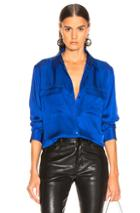 Equipment Signature Blouse In Blue