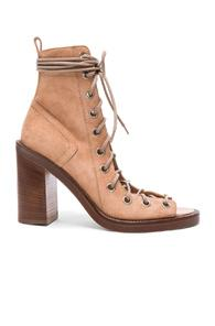Ann Demeulemeester Suede Lace Up Heels In Neutrals