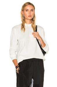 Adidas By Alexander Wang Logo Long Sleeve In White