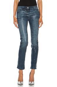 Golden Goose Skinny Fit Textured Jean In Blue