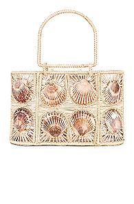 Mercedes Salazar Woven Shell Bag In Neutral