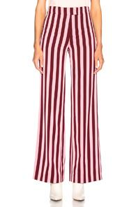 Alexachung High Waist Trousers In Pink,red,stripes