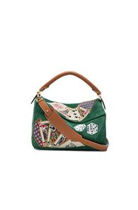 Loewe Playing Card Puzzle Bag In Green