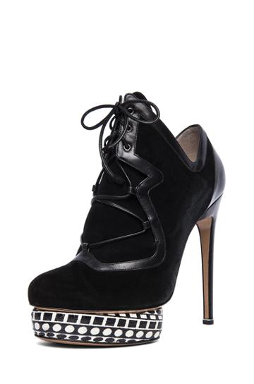 Nicholas Kirkwood Platform Ankle Boot In Black