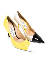 Jimmy Choo Asymmetrical Love 100 Heel In Multi