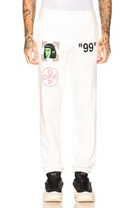 Off-white Green Man Sweatpants In White