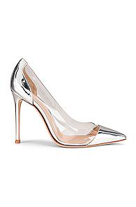 Gianvito Rossi Plexi Pumps In Metallic