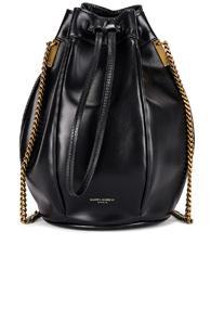 Saint Laurent Small Talitha Chain Bucket Bag In Black