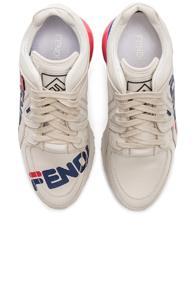 Fendi X Fila Logo Sneakers In White