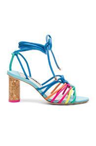 Sophia Webster Leather Copacabana Mid Sandals In Blue,green,pink