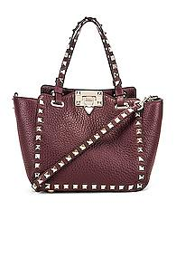 Valentino Rockstud Mini Tote In Purple