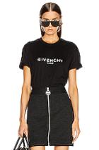 Givenchy Shortsleeve T-shirt In Black