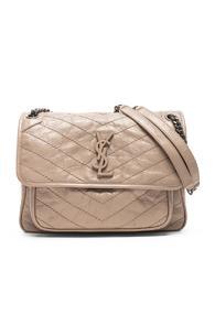 Saint Laurent Monogramme Niki Shoulder Bag In Neutral