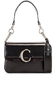 Chloe C Crossbody Bag In Black
