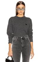 Acne Studios Nalon Face Sweatshirt In Gray