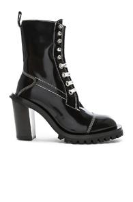 Acne Studios Leather Lace Up Boots In Black