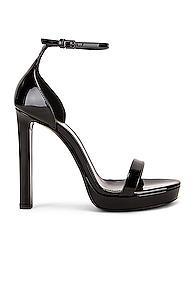 Saint Laurent Platform Hall Sandals In Black