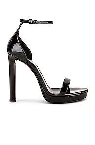 Saint Laurent Platform Hall Sandals In Black